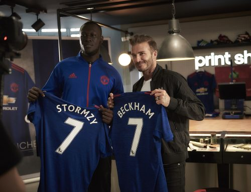 David Beckham & Stormzy at New-Look adidas Store on Oxford Street