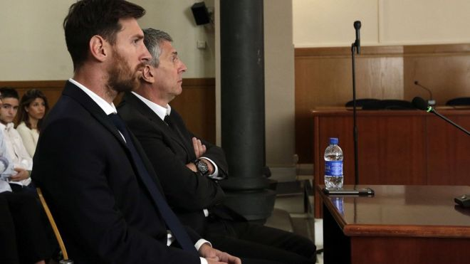 Lionel Messi handed jail in Spain for tax fraud